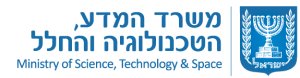 The logo of Ministry of Science and Technology, State of Israel