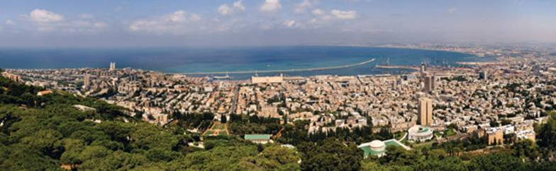 Panoramic view of the City of Haifa